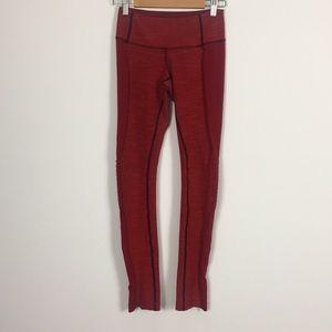 Lululemon Red Full Length Leggings